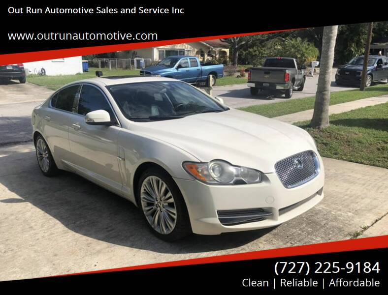 2009 Jaguar XF for sale at Out Run Automotive Sales and Service Inc in Tampa FL