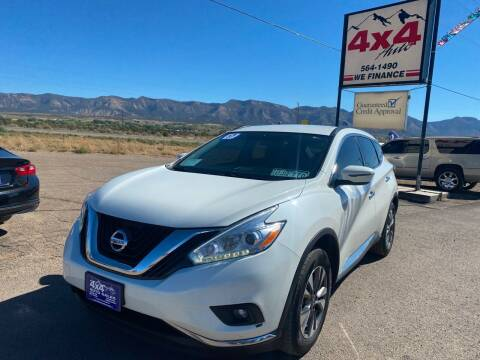 2017 Nissan Murano for sale at 4X4 Auto in Cortez CO