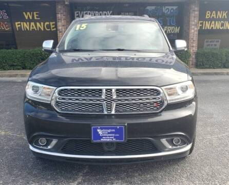 2015 Dodge Durango for sale at Washington Motor Company in Washington NC