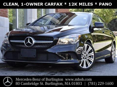 2018 Mercedes-Benz CLA for sale at Mercedes Benz of Burlington in Burlington MA
