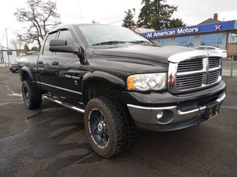 2003 Dodge Ram Pickup 2500 for sale at All American Motors in Tacoma WA