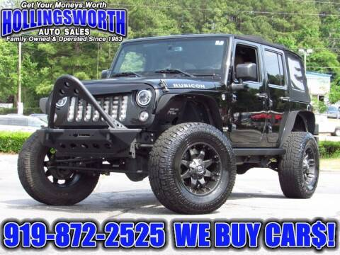 2015 Jeep Wrangler Unlimited for sale at Hollingsworth Auto Sales in Raleigh NC