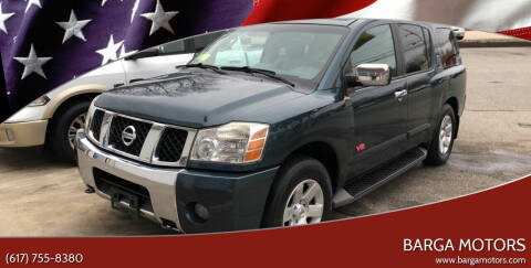 2006 Nissan Armada for sale at Barga Motors in Tewksbury MA