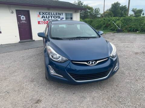 2016 Hyundai Elantra for sale at Excellent Autos of Orlando in Orlando FL