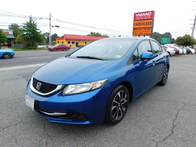 2013 Honda Civic for sale at Cars 4 Less in Manassas VA