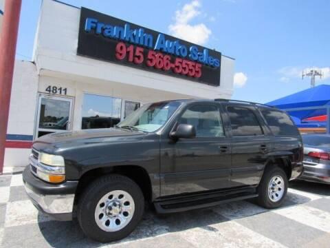 2004 Chevrolet Tahoe for sale at Franklin Auto Sales in El Paso TX