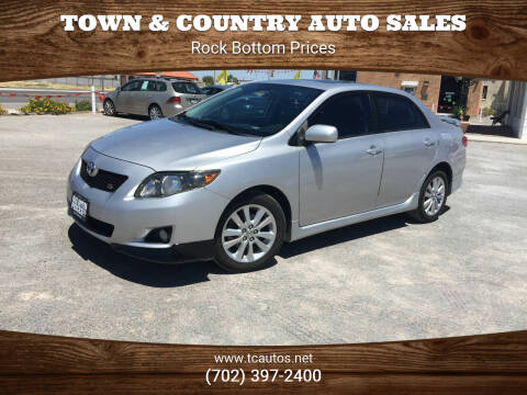 2010 Toyota Corolla for sale at TOWN & COUNTRY AUTO SALES in Overton NV