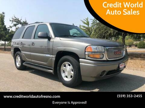 2006 GMC Yukon for sale at Credit World Auto Sales in Fresno CA