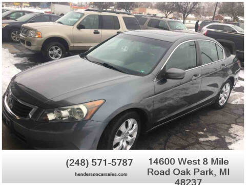 2010 Honda Accord for sale at Henderson Automotive, LLC in Oak Park MI
