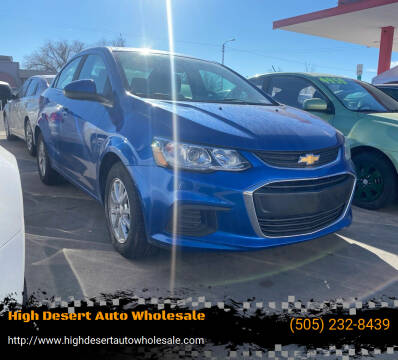 2017 Chevrolet Sonic for sale at High Desert Auto Wholesale in Albuquerque NM