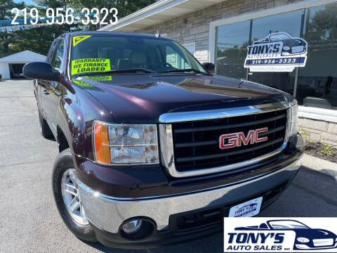 2008 GMC Sierra 1500 for sale at Tonys Auto Sales Inc in Wheatfield IN