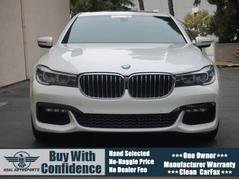 2016 BMW 7 Series for sale at ASAL AUTOSPORTS in Corona CA