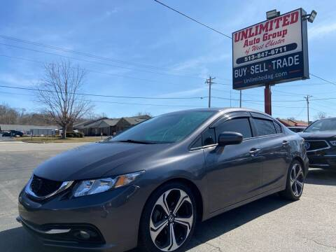 2015 Honda Civic for sale at Unlimited Auto Group in West Chester OH