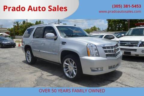 2012 Cadillac Escalade for sale at Prado Auto Sales in Miami FL