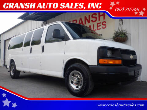 2011 Chevrolet Express Passenger for sale at CRANSH AUTO SALES, INC in Arlington TX