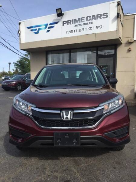 2015 Honda CR-V for sale at Prime Cars Auto Sales in Saugus MA