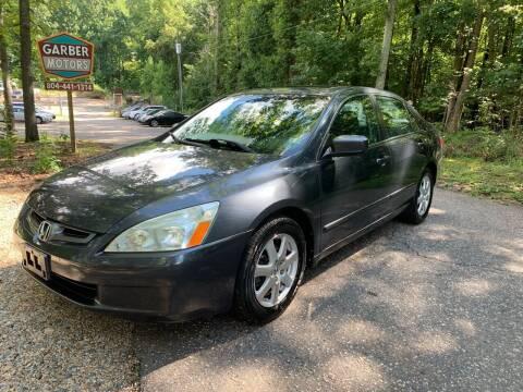 2005 Honda Accord for sale at Garber Motors in Midlothian VA