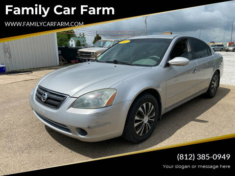 2003 Nissan Altima for sale at Family Car Farm in Princeton IN