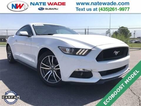 2015 Ford Mustang for sale at NATE WADE SUBARU in Salt Lake City UT