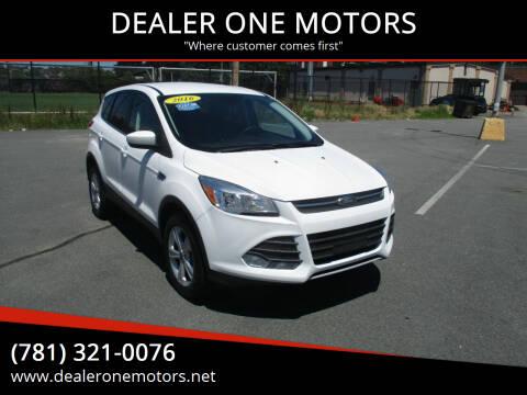 2016 Ford Escape for sale at DEALER ONE MOTORS in Malden MA