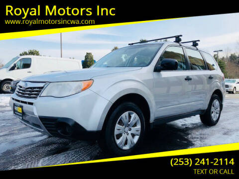2010 Subaru Forester for sale at Royal Motors Inc in Kent WA