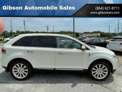 2013 Lincoln MKX for sale at Gibson Automobile Sales in Spartanburg SC