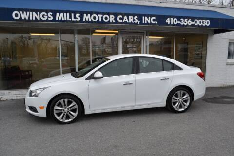 2013 Chevrolet Cruze for sale at Owings Mills Motor Cars in Owings Mills MD