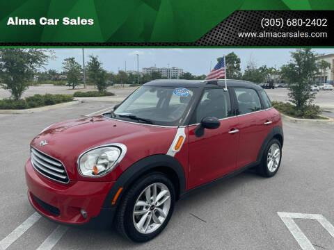 2014 MINI Countryman for sale at Alma Car Sales in Miami FL