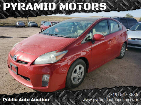 2010 Toyota Prius for sale at PYRAMID MOTORS - Pueblo Lot in Pueblo CO