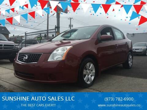 2008 Nissan Sentra for sale at SUNSHINE AUTO SALES LLC in Paterson NJ