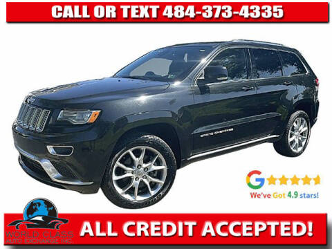 2015 Jeep Grand Cherokee for sale at World Class Auto Exchange in Lansdowne PA