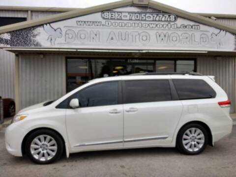 2012 Toyota Sienna for sale at Don Auto World in Houston TX