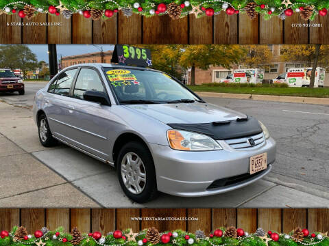 2002 Honda Civic for sale at 6 STARS AUTO SALES INC in Chicago IL