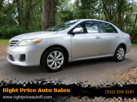 2013 Toyota Corolla for sale at Right Price Auto Sales-Gainesville in Gainesville FL