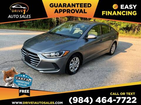 2017 Hyundai Elantra for sale at Drive 1 Auto Sales in Wake Forest NC