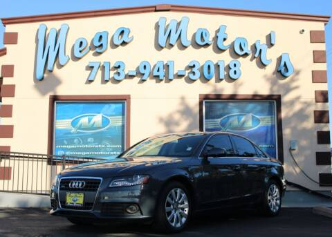 2013 Audi A4 for sale at MEGA MOTORS in South Houston TX