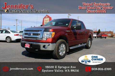 2014 Ford F-150 for sale at Jennifer's Auto Sales in Spokane Valley WA