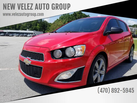 2013 Chevrolet Sonic for sale at NEW VELEZ AUTO GROUP in Gainesville GA