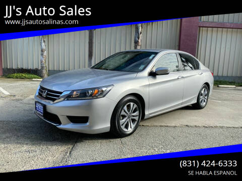 2014 Honda Accord for sale at JJ's Auto Sales in Salinas CA