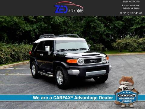 2008 Toyota FJ Cruiser for sale at Zed Motors in Raleigh NC