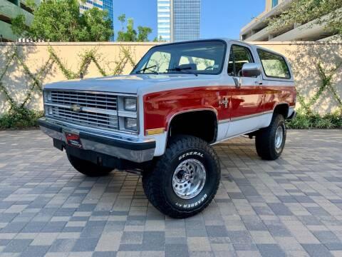 1984 Chevrolet Blazer for sale at ROGERS MOTORCARS in Houston TX