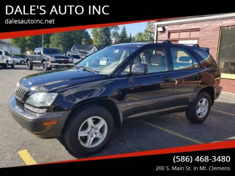 2001 Lexus RX 300 for sale at DALE'S AUTO INC in Mount Clemens MI