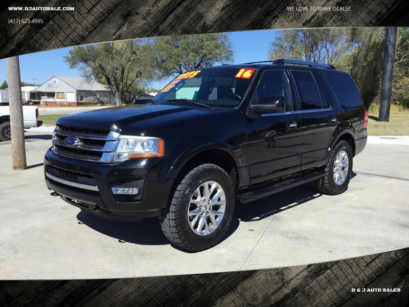 2016 Ford Expedition for sale at D & J AUTO SALES in Joplin MO