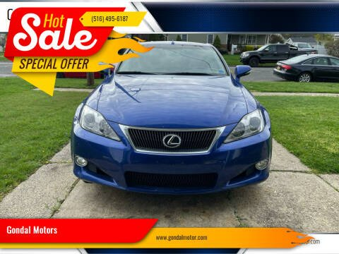 2010 Lexus IS 250C for sale at Gondal Motors in West Hempstead NY