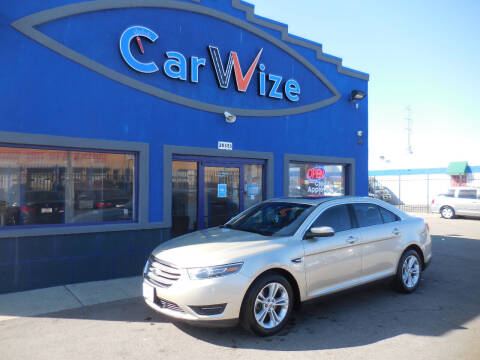 2018 Ford Taurus for sale at Carwize in Detroit MI