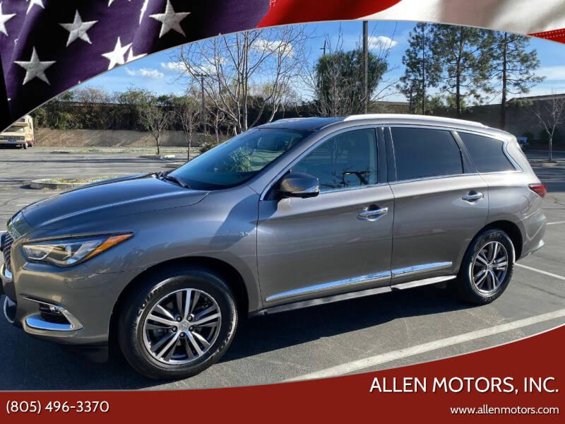 2017 Infiniti QX60 for sale at Allen Motors, Inc. in Thousand Oaks CA