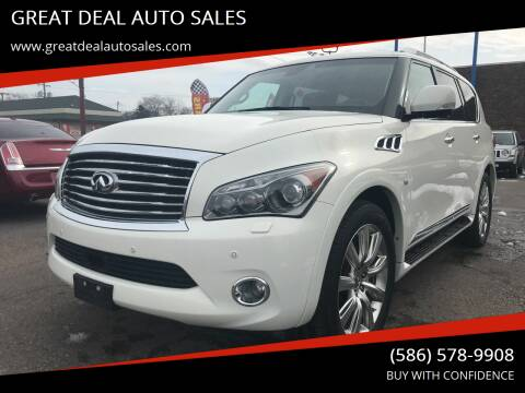 2014 Infiniti QX80 for sale at GREAT DEAL AUTO SALES in Center Line MI