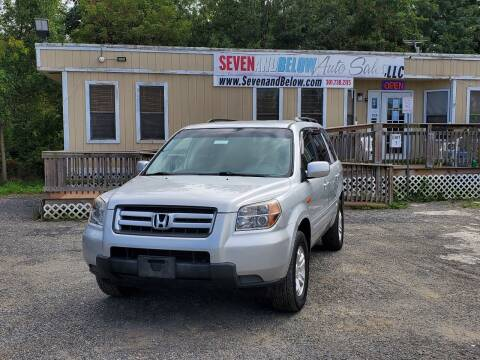 2008 Honda Pilot for sale at Seven and Below Auto Sales, LLC in Rockville MD