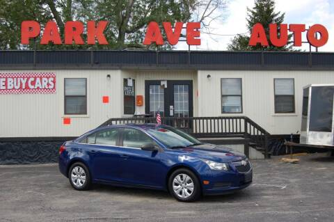 2012 Chevrolet Cruze for sale at Park Ave Auto Inc. in Worcester MA