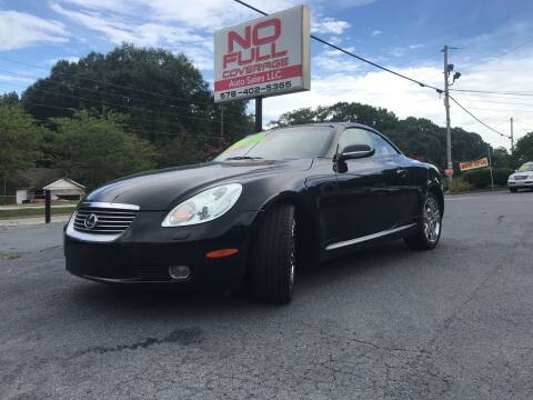 2004 Lexus SC 430 for sale at No Full Coverage Auto Sales in Austell GA